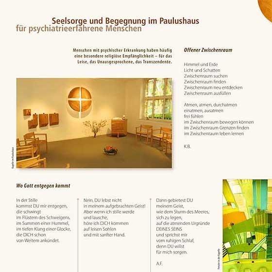 Broschüre: Print-Projekt · Seelsorge und Begegnung im Paulushaus · Seite 3