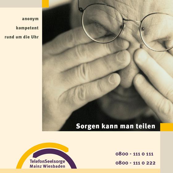 Flyer: Print-Projekt · Telefonseelsorge Wiesbaden · Mainz · Seite 1