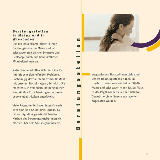 Flyer: Print-Projekt · Telefonseelsorge Wiesbaden · Mainz · Seite 5
