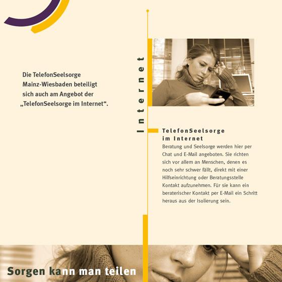 Flyer: Print-Projekt · Telefonseelsorge Wiesbaden · Mainz · Seite 6