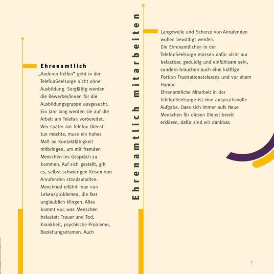 Flyer: Print-Projekt · Telefonseelsorge Wiesbaden · Mainz · Seite 7