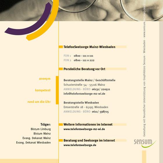 Flyer: Print-Projekt · Telefonseelsorge Wiesbaden · Mainz · Seite 8