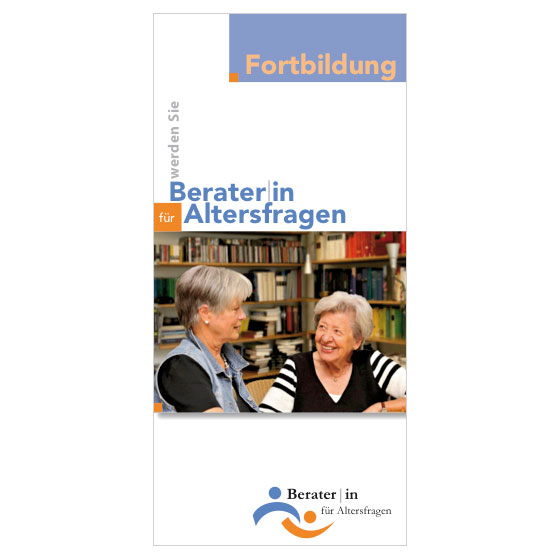 Fortbildung zur AltersberaterIn | Flyer