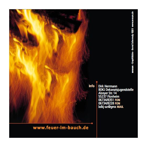 Flyer: Firmung · Feuer im Bauch · Gemeindepastoral Mainz