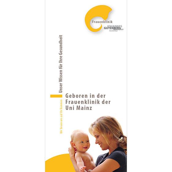 Flyer: Frauenklinik der Universität Mainz · Titelseite