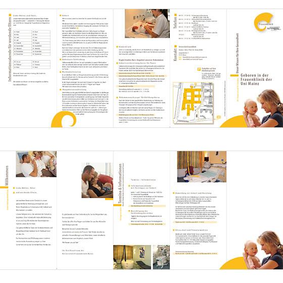 Flyer: Frauenklinik der Universität Mainz · gesamter Bogen