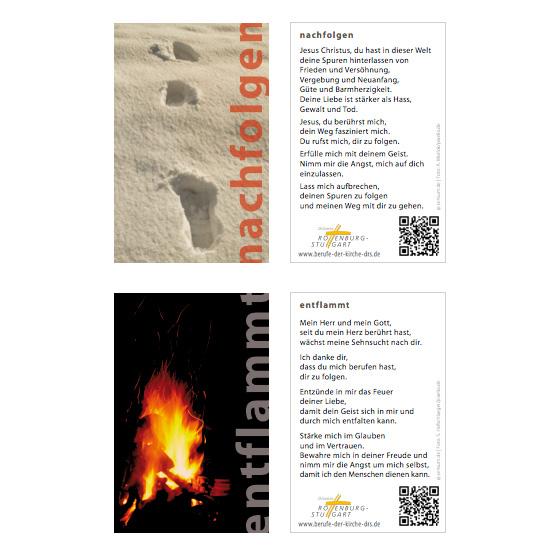 Berufe der Kirche Mainz und Tübingen | Gebetskärtchen