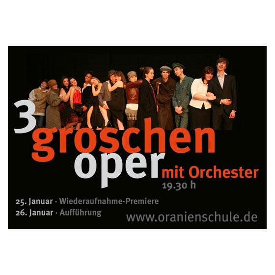 3Groschenoper | Oranienschule Wiesbaden | Flyer | Plakat | Eintrittskarte