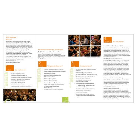 Streicherklasse | Oranienschule Wiesbaden | Flyer