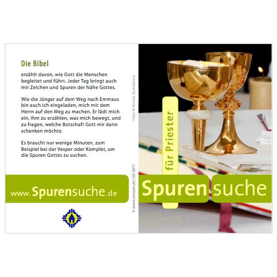 Flyer Priester · Spurensuche · Mainz