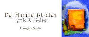 Buchcover von Annegret Feckler · Aquarell · Blau- und Oranetöne