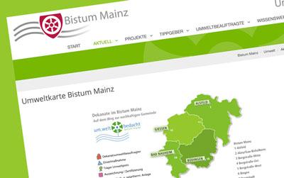 Umweltkarte · Bistum Mainz